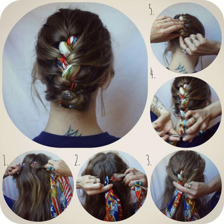 kosa-s-platkom Как красиво завязать на голову шарф разными способами? Как красиво и стильно завязать шарф на голове летом, с пальто, мусульманке?