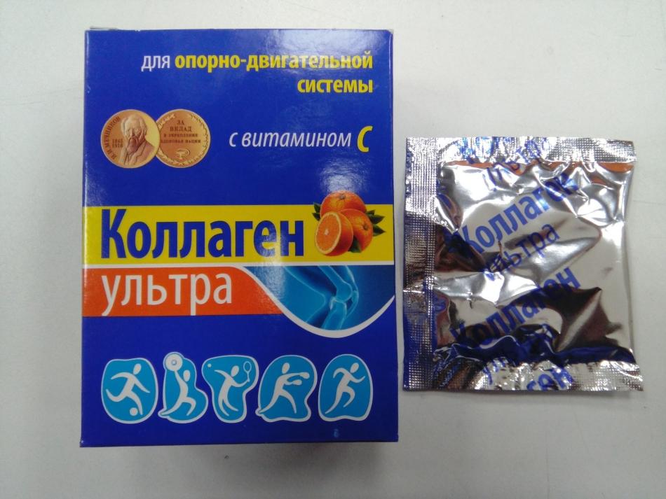 Препарат для лечения суставов. коллаген с витамином с