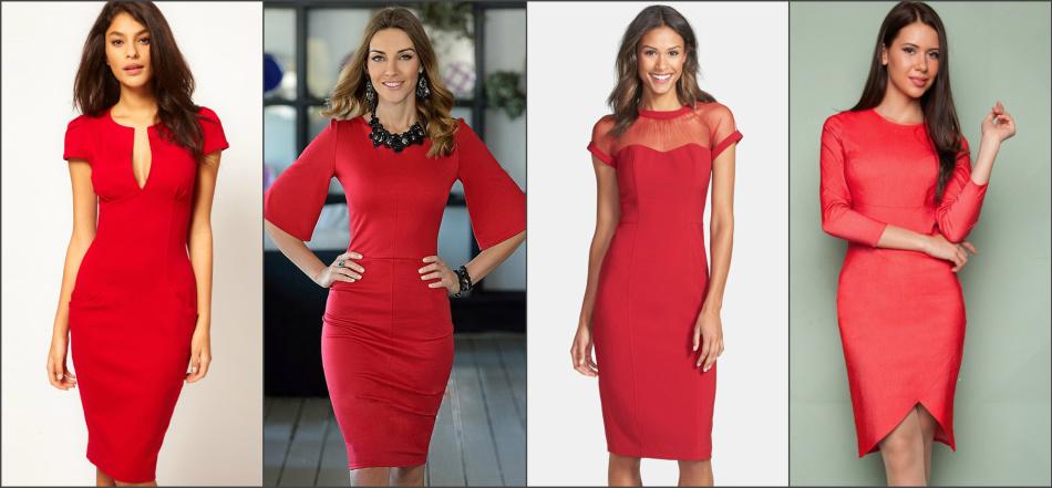 С чем сочетать красное платье 598921e0041a2
