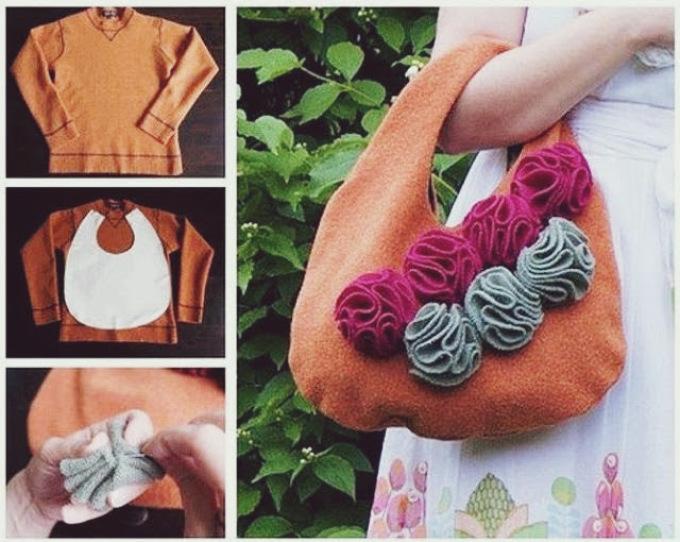 Сумка из свитера: как шить