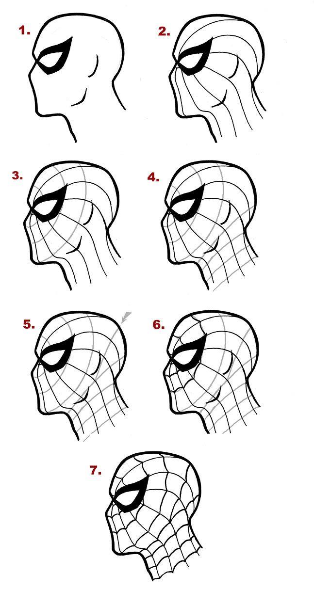 недавно лицо человека паука картинки нарисовать новые