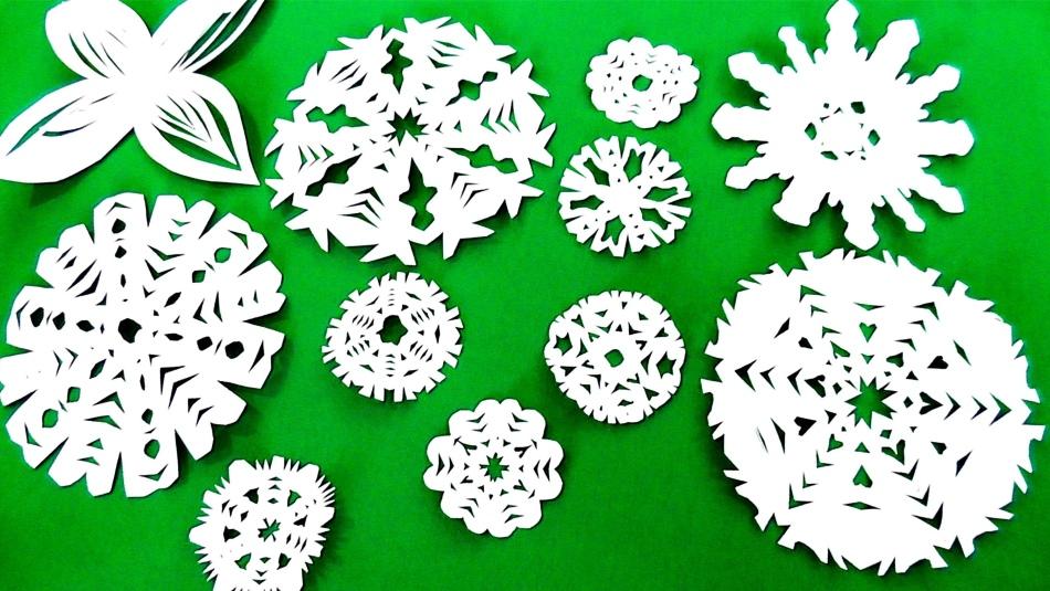 obrazci-krasivih-snezhinok-iz-bumagi-vipolnennih-svoimi-rukami-foto-1 Как крючком связать красивую снежинку? Снежинки крючком: узор, схемы с описанием для начинающих