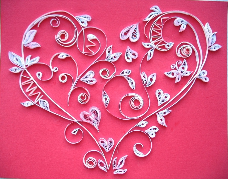 Своими, открытки квиллинг к дню валентина