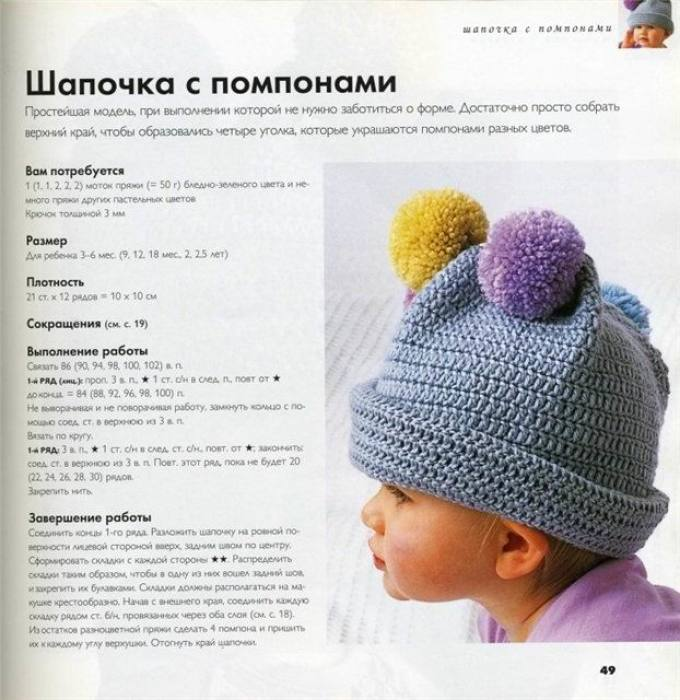 e6f5863bdec4b65e57c756eb5d7808e6 Чепчик спицами для новорожденного: схемы, описание и мастер-класс