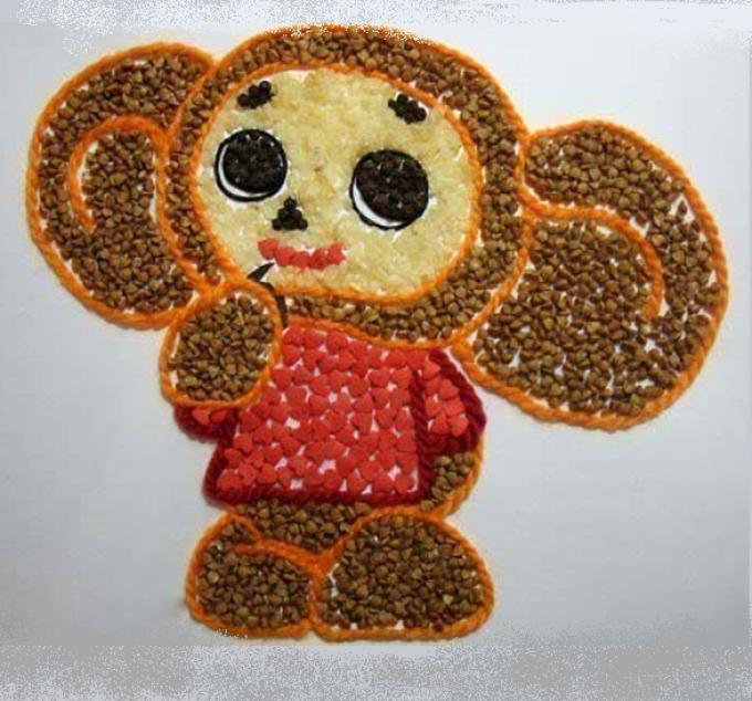 cheburashka Аппликации из цветной бумаги шаблоны распечатать для детей 2-3, 4-5, 6-7 лет. Фото. тема осень, зима, весна