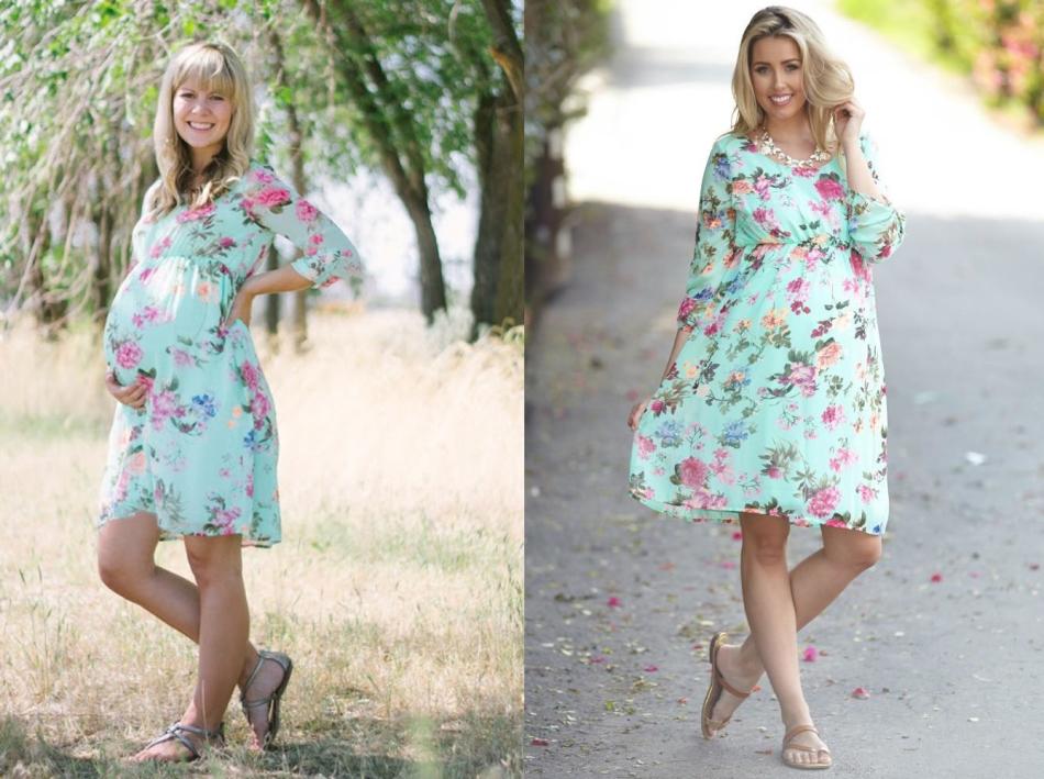 Платье для беременных с завышенной талией