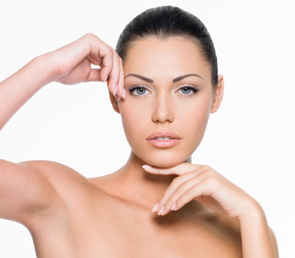 Красивая кожа лица после пилинга