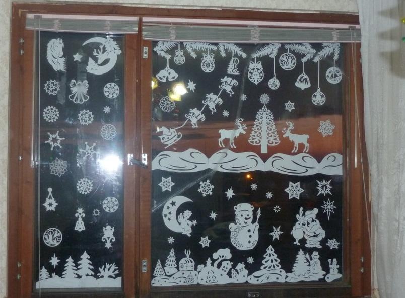 Шаблоны ангелов и балерин на окнах детского сада, дома или офиса, пример 1