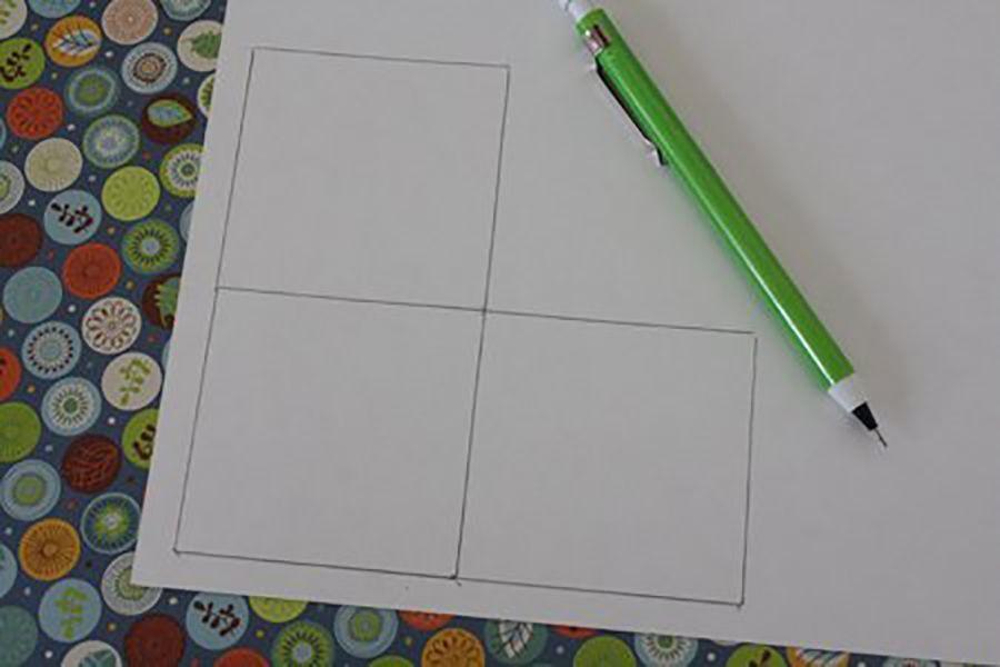 dlya-izgotovleniya-zakladki-nuzhno-narisovat-takuyu-kompoziciyu-iz-kvadratov Закладка-уголок из бумаги для книг (оригами): как сделать своими руками
