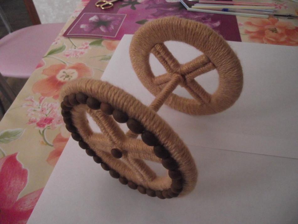 Скрепление задних колёс велосипеда-кашпо