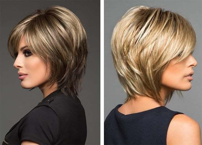 sheggi-s-chelkoi Красивые стрижки на средние волосы 2019-2020, фото, идеи стрижки на средние волосы