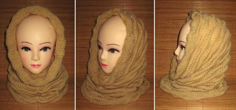 Как связать снуд хомут круговой шарф?