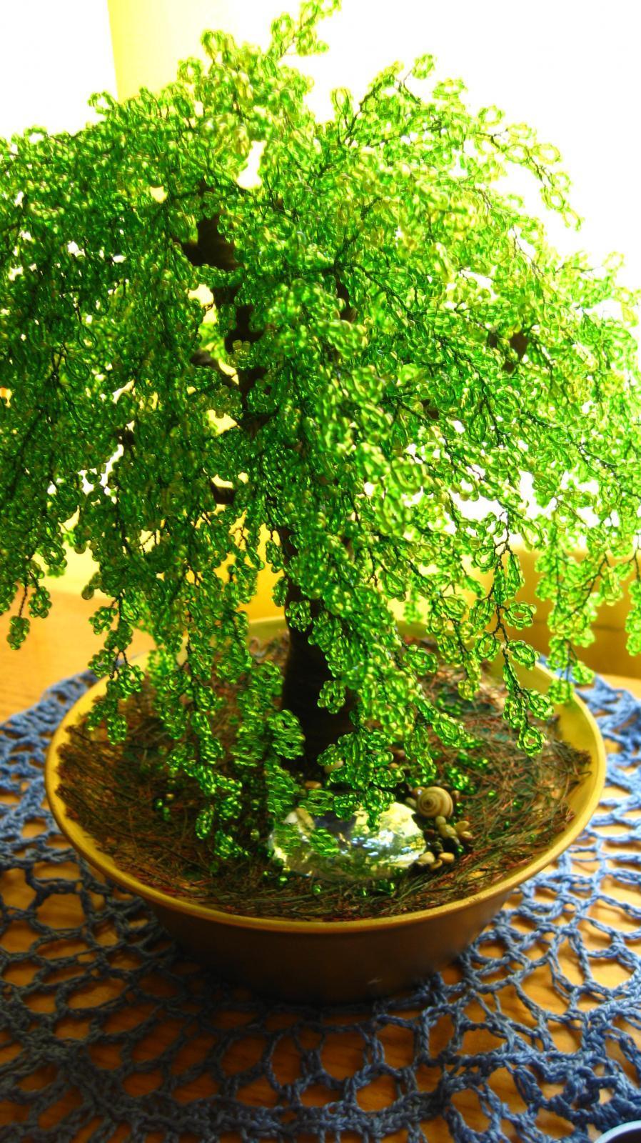 plakuchaya-iva Времена года. Плетем деревья из бисера