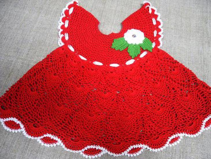 eaffa3c3c2f1047128ec690e21db8ba1 Вязаное платье для девочки 2 года: схемы