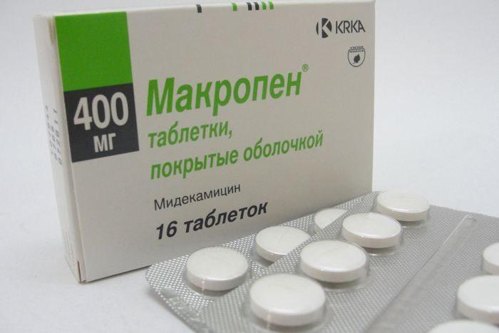 Макропен - лекарство от гайморита