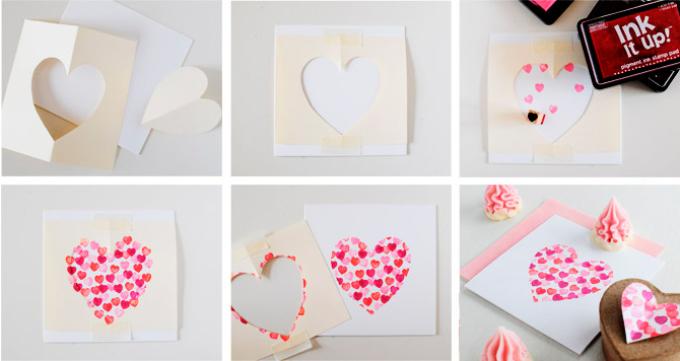 ebe2cf440177c7ad2bc5d9fe084dd448 Поделка — валентинка своими руками из бумаги, ткани: шаблоны, выкроки. Как сделать красивую валентинку своими руками маме, парню, в школу?