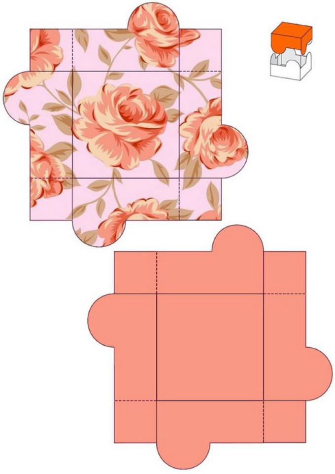 ec1b0bab7d12cc9ab7d4c474f86e7c7d Нарядная коробочка для упаковки подарка из подручных материалов