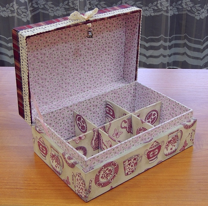 ecc0f1b56343fd0817f6ac2796791835 Прелестная шкатулка из картона и ткани своими руками