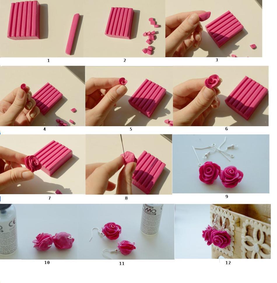 rozi-iz-polimernoi-glini Малый бизнес на дому: Изделия и украшения из полимерной глины своими руками