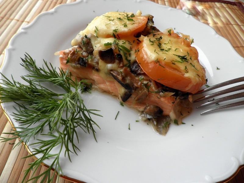 Сырно-овощная шуба для рыбы