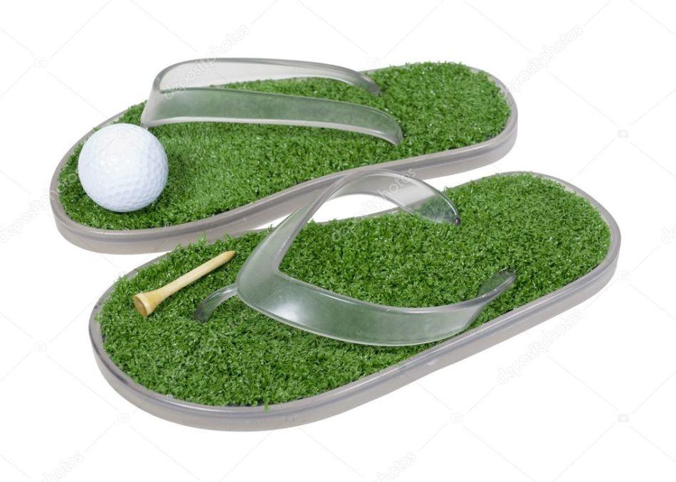 Гольф-тапочки с травой - оригинальный подарок для девушек, соскучившихся по лету