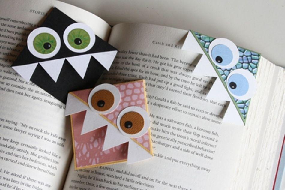 zakladka-origami-v-vide-monstra-dlya-malchikov Закладки уголки для книг: забавные животные