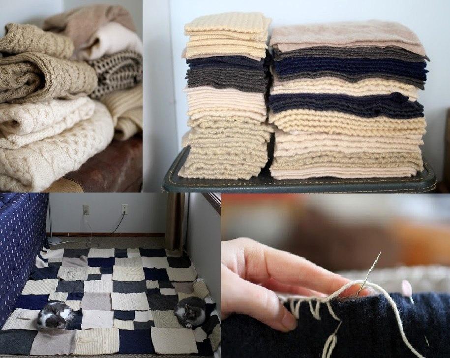 Нарезаем свитера на квадраты или прямоугольники