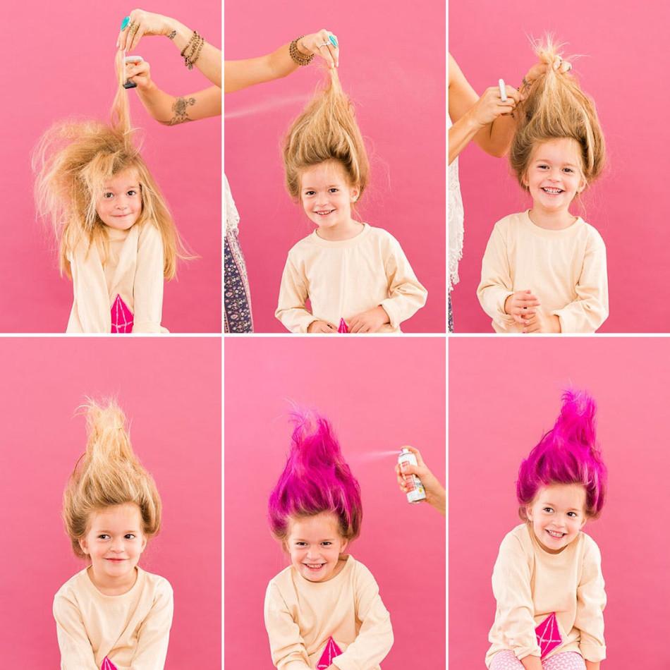 Спрей для волос - отличный способ быстро изменить цвет волос ребенку на 1 день!