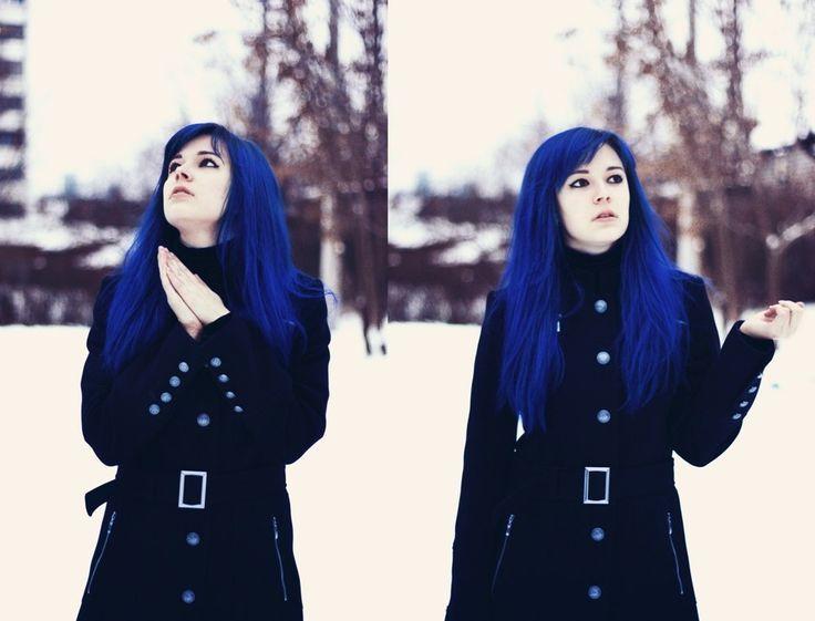 Яркая синева