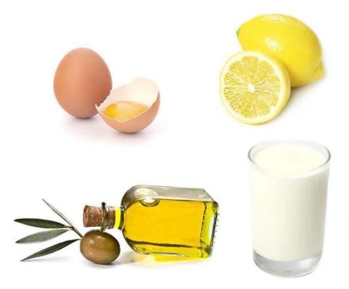 Маска с кефиром и лимоном для волос