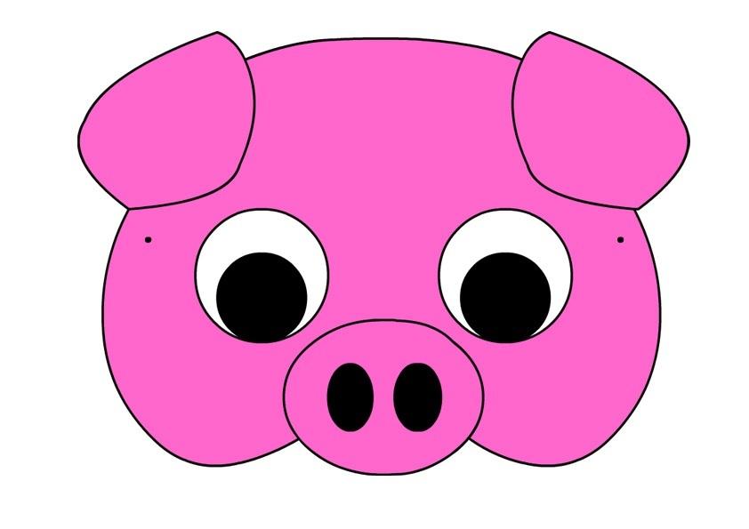 Морда свиньи картинки из бумаги