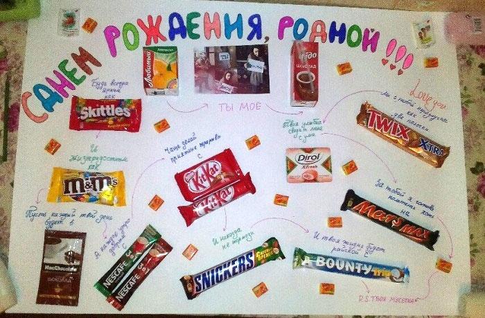 Плакат своими руками со сладостями фото 55