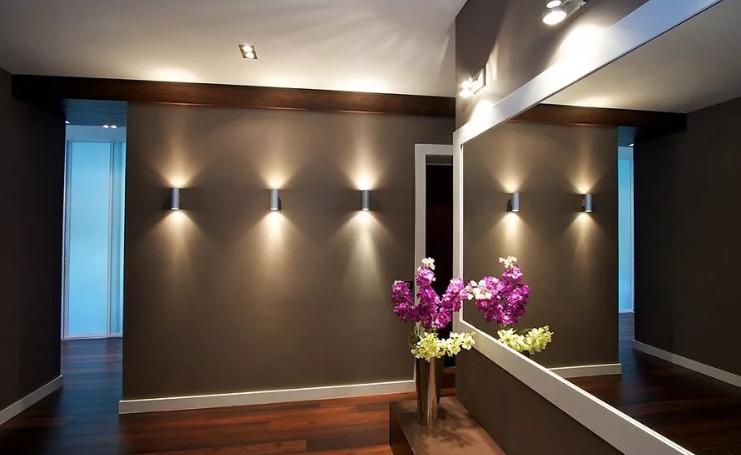 Освещение — интересная световая палитра стен