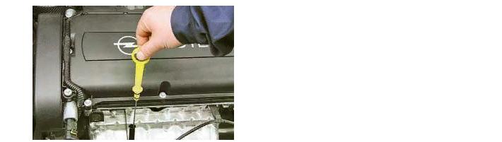 Расположение щупа масляной жидкости в авто опель