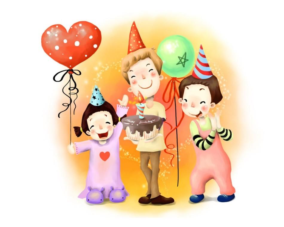Картинки дети поздравляют с днем рождения
