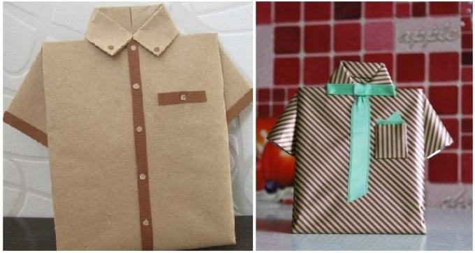 upakovka-rubashka Как упаковать подарок своими руками
