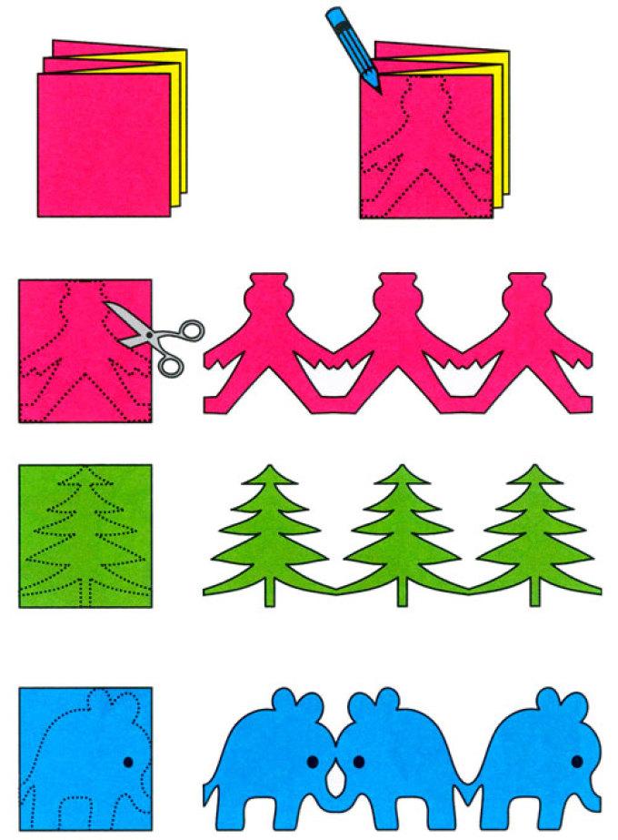 Фото-инструкция по изготовлению гирлянды с фигурками