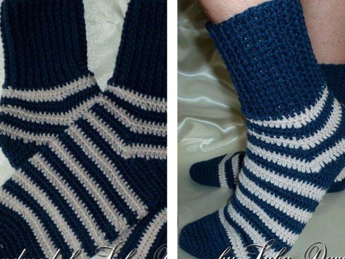 muzhskie-noski Как связать крючком носки — способы: схемы, описание