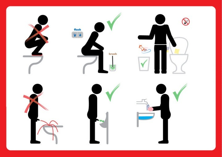 Инструкции в картинках туалетная
