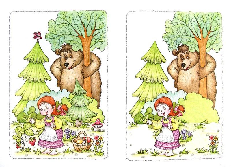 Ищем отличия на картинках для детей