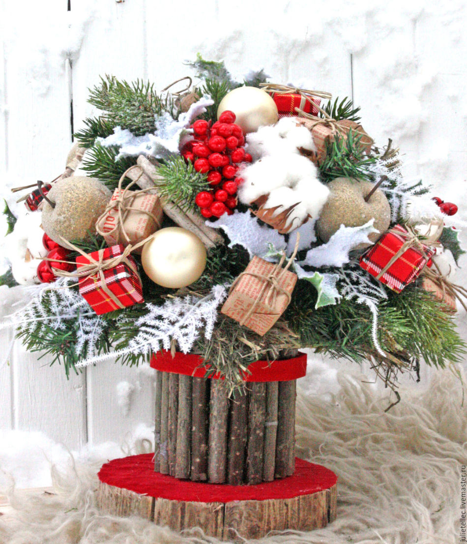 Идея подарка: зимний букет
