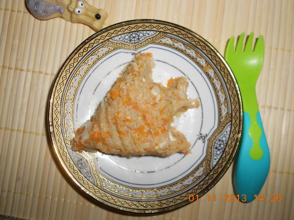Рыбное пюре с овощами для первого прикорма
