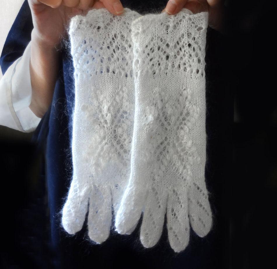 как связать перчатки спицами с описанием схемы узоры как связать