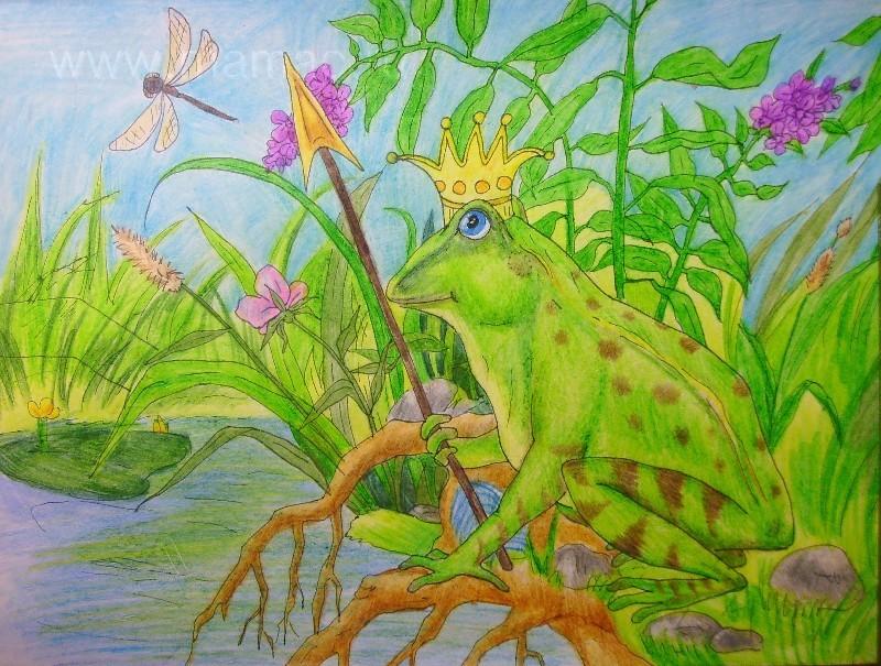 Лягушка царевна картинки карандашом